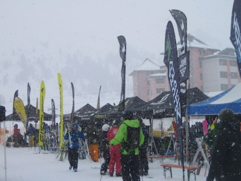The test centre at Kühtai where almost 900 pairs of new skis were available to test