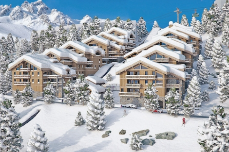 The Mammoth Lodge apartments in Courchevel 1650 are convenient for both the slopes and the new aqua centre