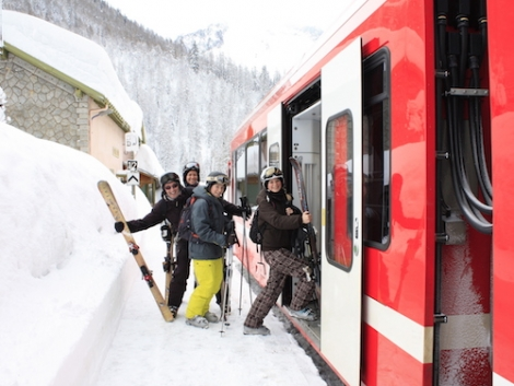 Make an event of travelling to your ski holiday destination and go by train