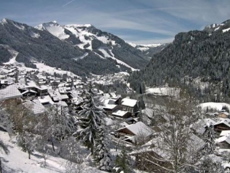 Magnificent weather and snow conditions in the Portes du Soleil today. Photo: chatel.com