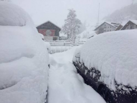 Extreme snow depths in parts of Austria. This is Kaunertal – 10 January 2019 – Photo: kaunertal.at
