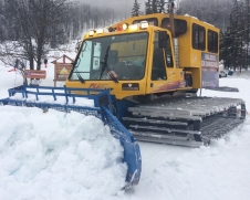 Riding a piste basher in Serre Chevalier