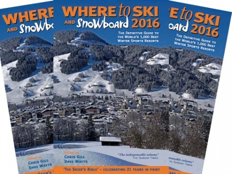 Some 24 new ski resorts are covered in Where to Ski and Snowboard 2016, launching 7 September