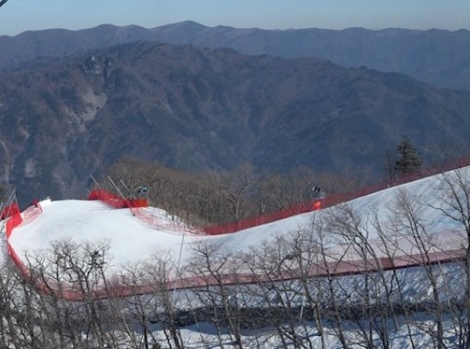The Olympic course in Jeongseon, South Korea. Photo: FIS/GEPA pictures