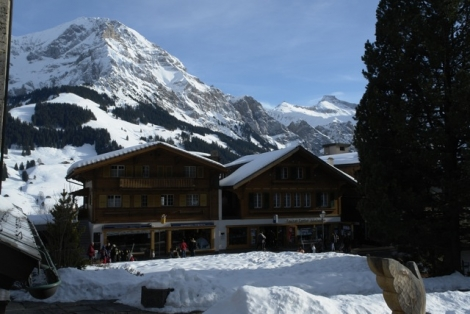 Great views from the village (even better ones from the slopes)