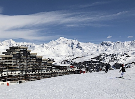 The main bowl of La Plagne from Aime