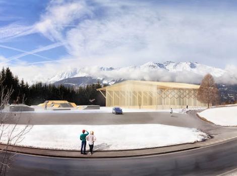 An early artist's impression of the Alaïa Chalet planned for Crans-Montana