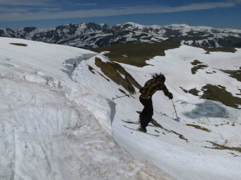 A former private summer training camp, Beartooth Basin offers brilliant cornice skiing