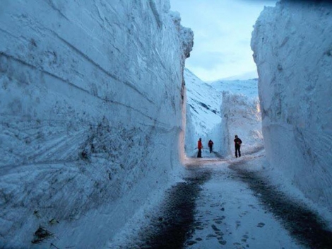 Some 7m of snow has blocked access to Bonneval-sur-Arc in the Haute Maurienne