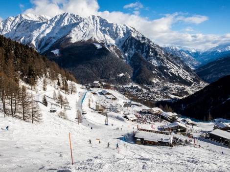A new luxury five-star hotel and two new pistes will open in the ski resort of Courmayeur
