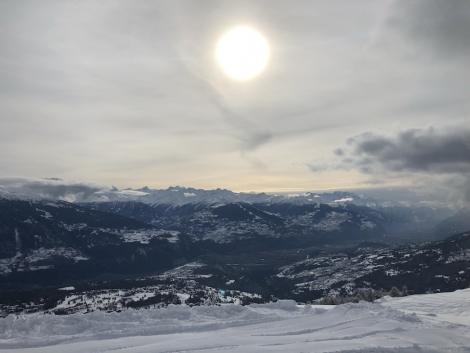 The south-facing resort of Crans-Montana has excellent skiing and fabulous views
