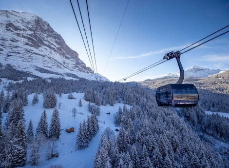 The Eiger Express (above) and the Grindelwald-Männlichen gondola are fully operational