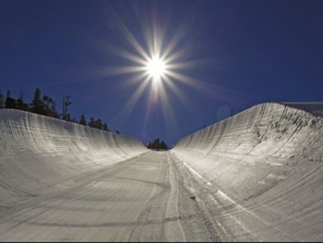 Skiers and boarders of all levels can enjoy the new 18ft halfpipe in Heavenly