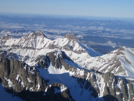 The High Tatras from the highest lift-served point