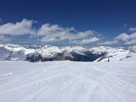 Over the last weekend of April, conditions on Austria's Hintertux Glacier were perfect
