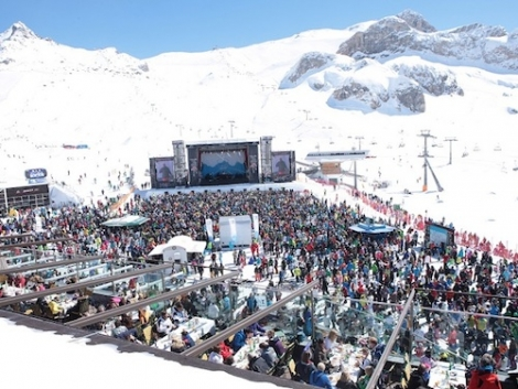 Ischgl is renowned for its amazing ski season opening and closing music concerts