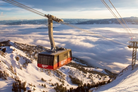 Jackson Hole is limiting numbers riding its iconic cable car to a quarter of its normal capacity
