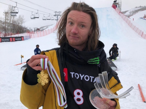James 'Woodsy' Woods has beeb crowned Big Air World Champion in Park City, Utah