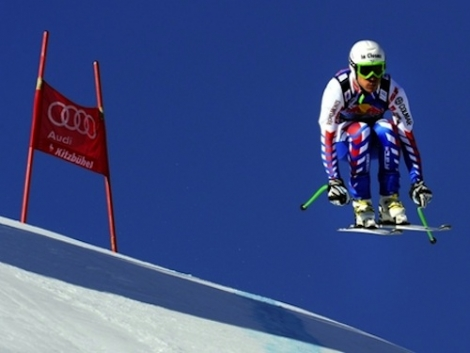 Skier Johan Clarey clocked 100.6mph on the downhill in Wengen