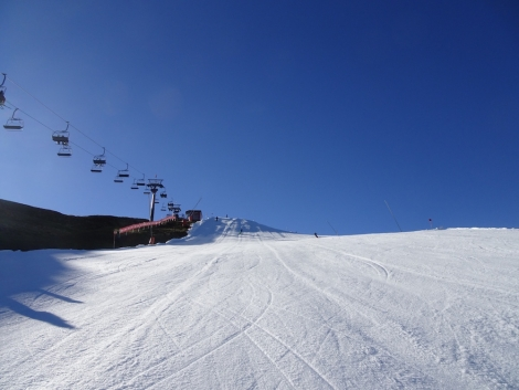 One of the pistes that will be open this weekend for early season skiing