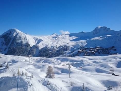 Keith Wild enjoyed empty pistes, blue skies and no queues in La Plagne in April