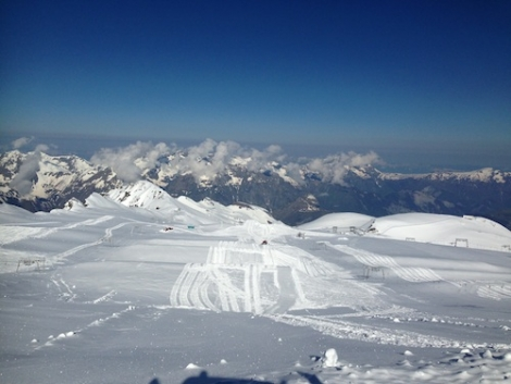 Les Deux-Alpes has the largest skiable glacier in Europe, at 3,600m