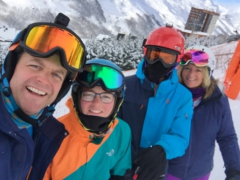 The Turner-Moore family enjoying their ski holiday in Les Menuires