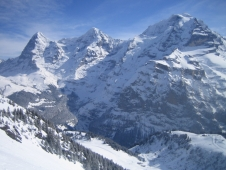 Three good days skiing in the Jungfrau region of Switzerland