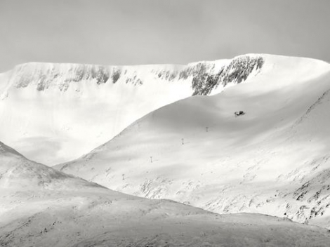 The Back Corries in Scotland, captured yesterday by photographer and keen skier Mark Trigg