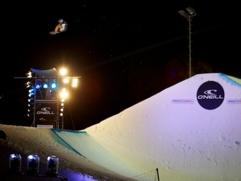 Snowboarder Antoine Truchon of Canada in this year's 6* TTR O'Neill Evolution