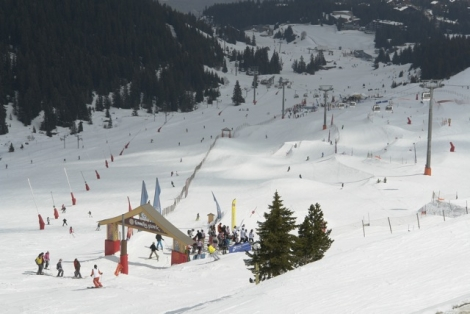The family park above Courchevel 1850 on Friday