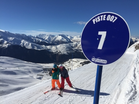 Piste 007 in Peyragudes was a favourite to ski with Seb and Ollie