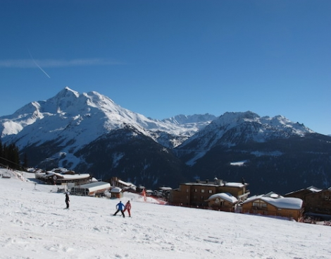 The view from La Rosière on Monday afternoon 17 March