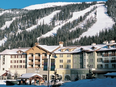 Slopes and village at Sun Peaks