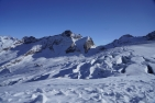 Clear, cold conditions in super-high Saas-Fee
