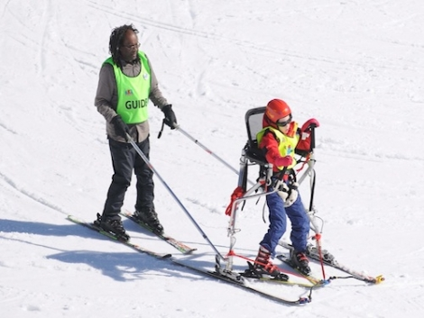 Where to Ski And Snowboard - New ski frame to help disabled children