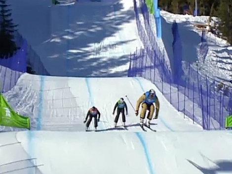 The Olympic skier cross event in Whistler earlier this season