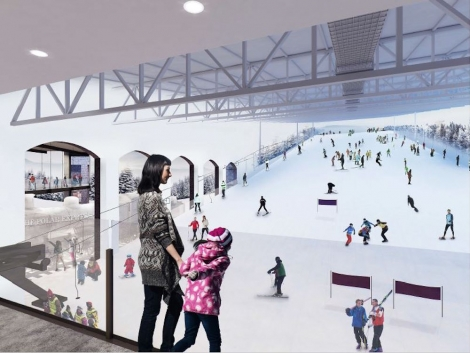 The Snow Centre Swindon will have a 170m main slope and 75m lesson slope