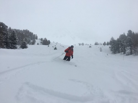 Dave enjoying the powder in Val d'Anniviers last season