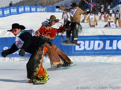 This year 80 professional rodeo riders took part in the Cowboy Downhill in Steamboat