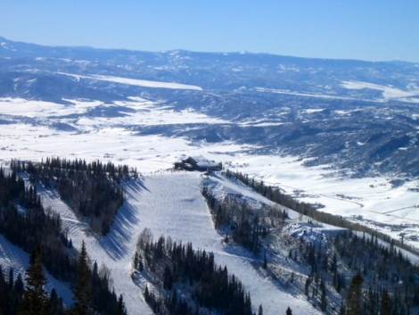 You can see for miles from the top of Steamboat's slopes