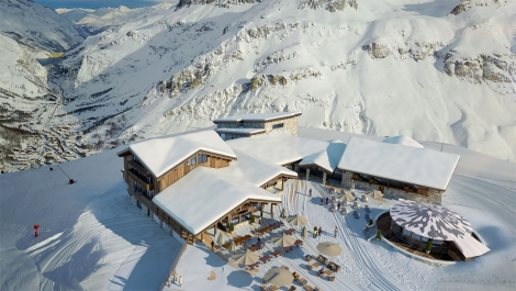 Val d'Isere hotel being built at altitude of 2551m at top of the Solaise lift