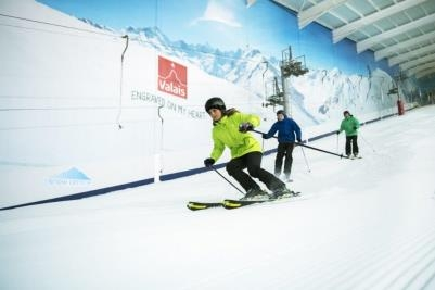 Skiers at The Snow Centre can now enjoy a Swiss mountain panorama