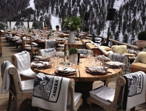 One of WTSS's favourite Zermatt restaurants, Chez Vrony, is serving up food for SWISS