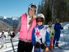 British girl skis with Lindsey Vonn