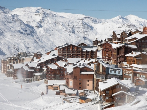 Val Thorens, pictured last week, is opening for skiing tomorrow (23 December)