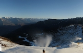 Verbier's Savoleyres sector just after dawn today