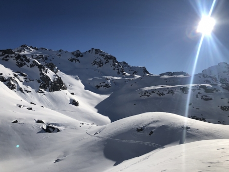The Swiss ski resort of Verbier minus the crowds: the back of Col de la Chaux