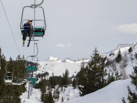 Villars is replacing the old double chair that links it with Les Diablerets. Pic: Iwan Schuwey