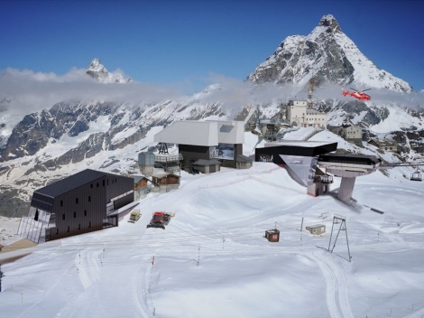 A visualisation of what the new Alpine Bridge ski lift station will look like